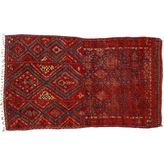 Vintage Berber Red Moroccan Rug 6' x 10'7