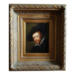 """Rembrandt"" Oil Painting by Peter Biegel"