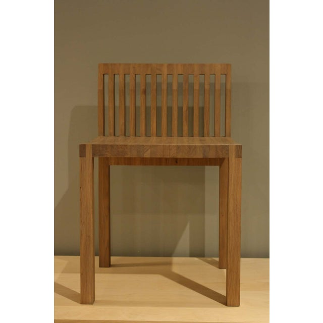 Natural Oak Slat Back Accent Chair - Image 3 of 6