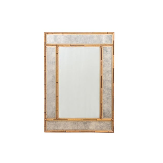 Image of Faux Bamboo Chinoiserie Mirror