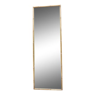 Vintage Gilt Faux Bamboo Rectangular Mirror