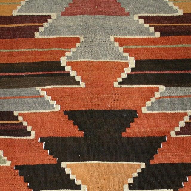 Vintage Turkish Kilim Usak Flatweave - 4'5 X 11'9 - Image 2 of 5