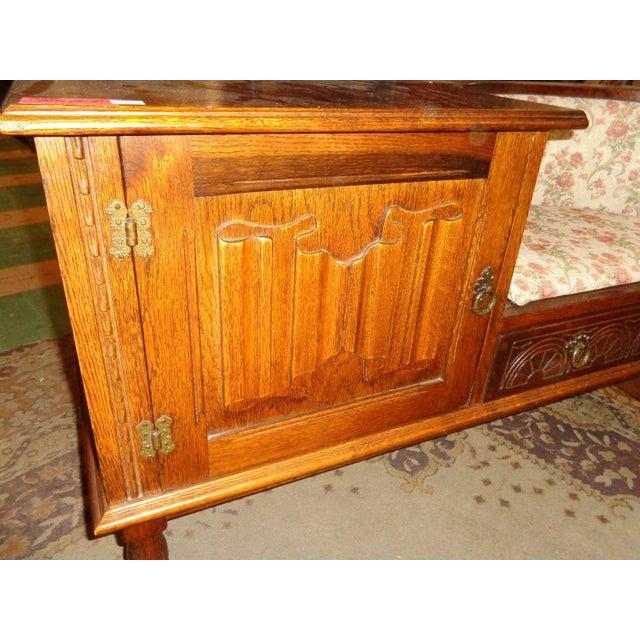 Edwardian Mid-Century Telephone Sofa Bench - Image 6 of 11
