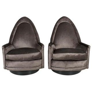Milo Baughman Tilt & Swivel Chairs - A Pair