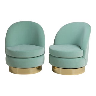 Customizable Standard Pair of Swivel Chairs by Talisman Bespoke