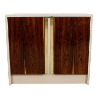 Milo Baughman Lacquer & Rosewood Cabinet