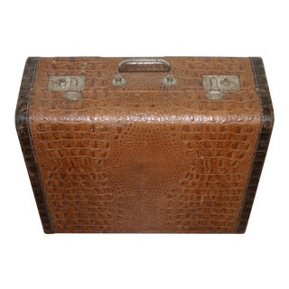 Art Deco Alligator Leather Laggage
