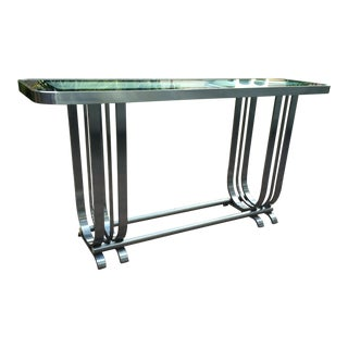 Gilbert Rohde Style Chrome Console Table