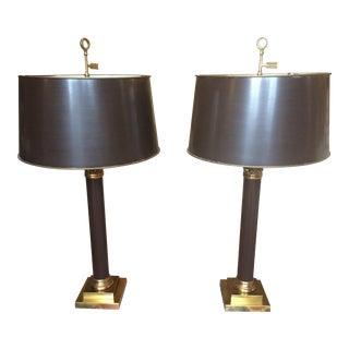 Warren Kessler Columnar Table Lamps- A Pair