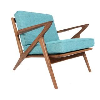 """Model Z"" Walnut Lounge Chair"