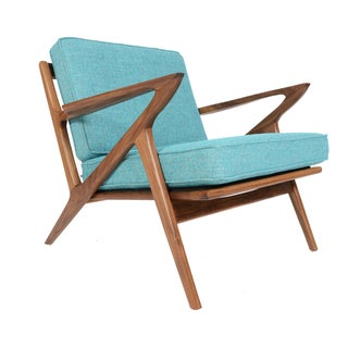 """Model Z"" Walnut Lounge Chair"