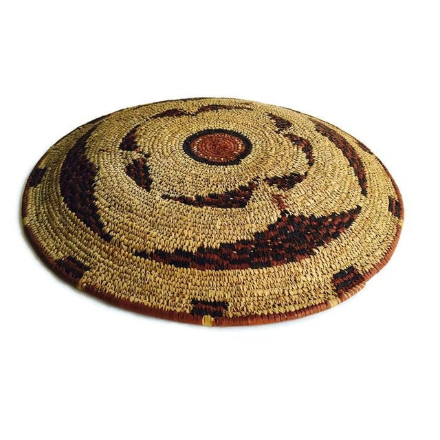 Vintage Moroccan Berber Woven Bowl Tray - Image 2 of 6