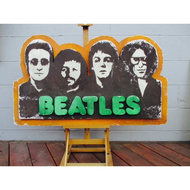 Image of Beatles Authentic Capitol Record Promo Display 1970s Wall Decor Record Vinyl Collectors Beatles Fans