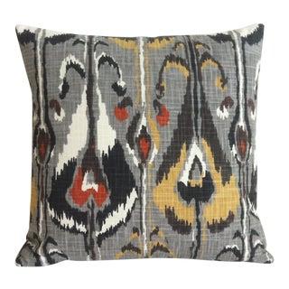 Mid-Century Modern Gray Ikat Robert Allen Pillow Cover
