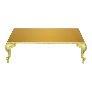 Louis XV Style Coffee Table With Copper Mirror Top
