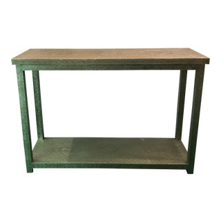 Oriental Metal Console Table