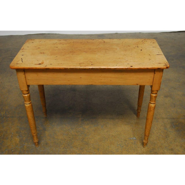 19th century french pine console table chairish for Table th width