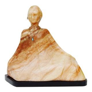 Vintage R. C. Gorman Marble Statue