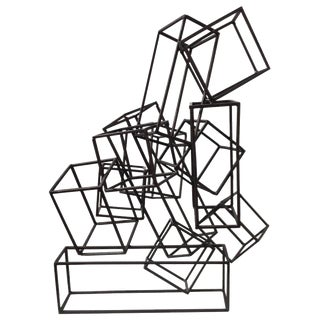 Mid-Century Abstract Cube Sculpture