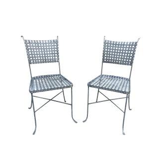 Industrial Sculptural Metal Chairs - A Pair