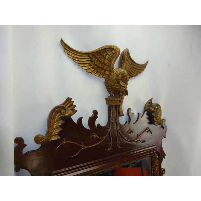 Federal Carved Wood Eagle Gilt Mirror - Image 4 of 9