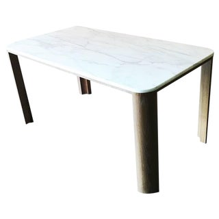 Modern Wood and Marble Table