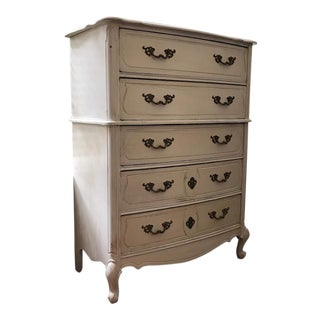 French Provincial Style Tall Dresser