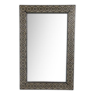 Wood Inlay Moroccan Mirror
