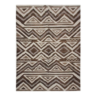"Aara Rugs Inc. Hand Knotted Ikat Rug - 5'10"" X 8'7"""