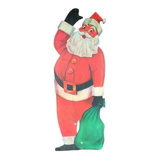Vintage 1960s Santa Store Display Sign