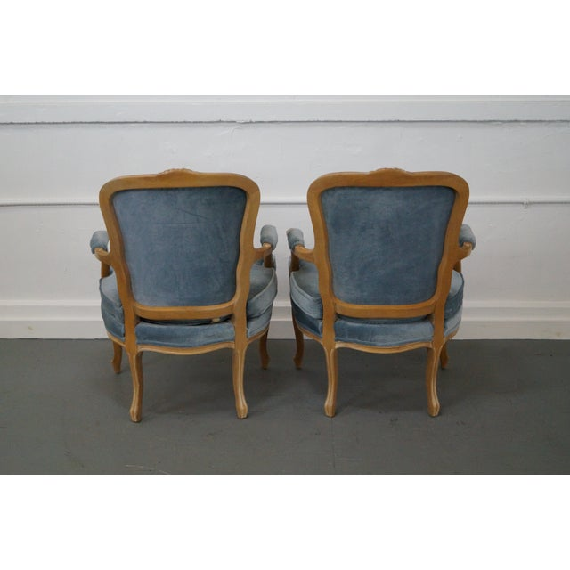 Image of Rowe Louis XV Style Fauteuils Arm Chairs - Pair