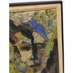 Image of Expressionist Female Portrait Collage Painting