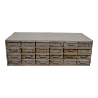 Vintage 24 Drawer Steel Metal Storage Tool Parts Cabinet Organizer Industrial Lyon A