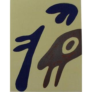 1963 Jean Arp Linocut Print on Fabraino Vellum