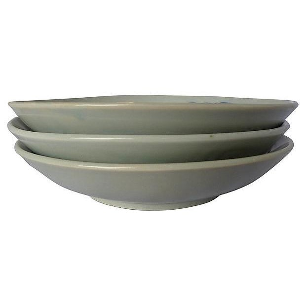 Vintage Asian Koi Serving Bowls - Set of 3 - Image 3 of 4