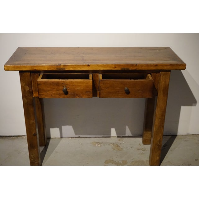Solid Wood Hall Console Table - Image 3 of 6