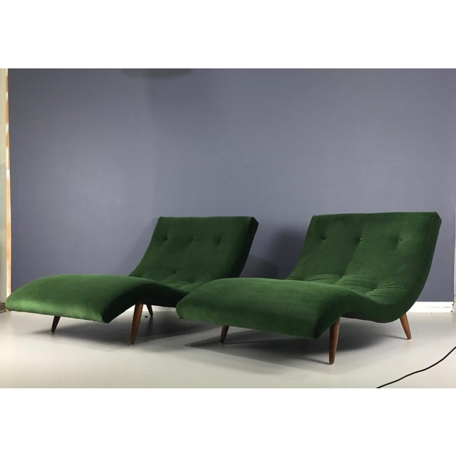 Adrian Pearsall Wave Lounge Chaise - Image 5 of 8
