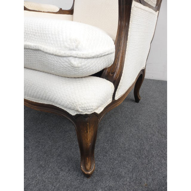 Vintage French Provincial White Arm Chair - Image 9 of 10