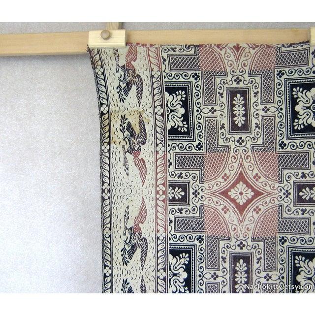 Image of 1840s Indigo & Rose Double Woven Blanket