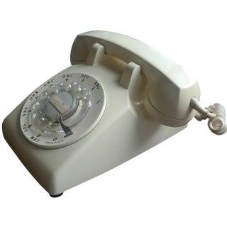 1970s Vintage Cream Rotary Dial Telephone