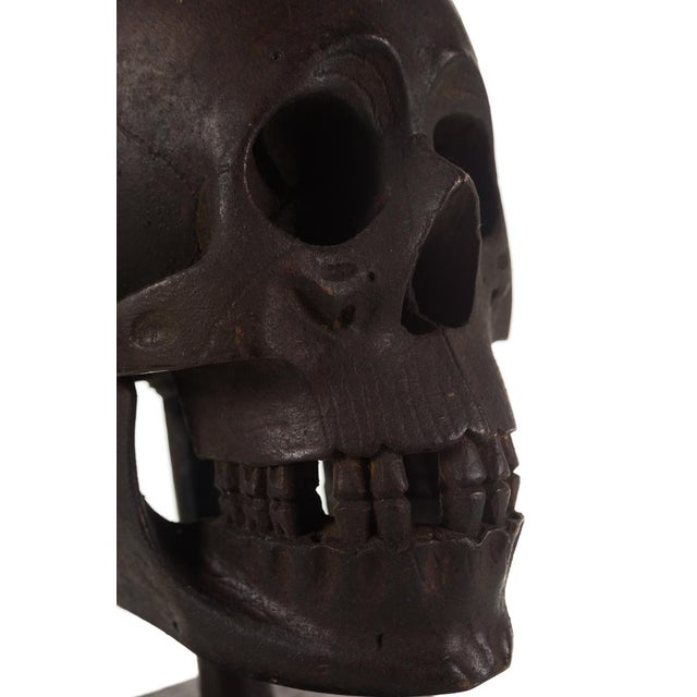 19th Century Hand Carved Wooden Skull - Image 6 of 9