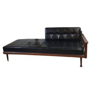 Mid Century Walnut Daybed Sofa