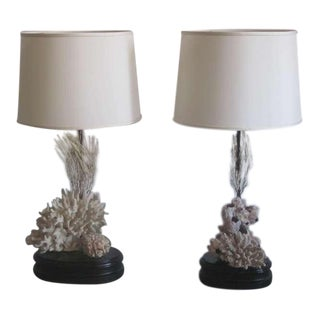 Pair of Authentic Sea Coral Table Lamps