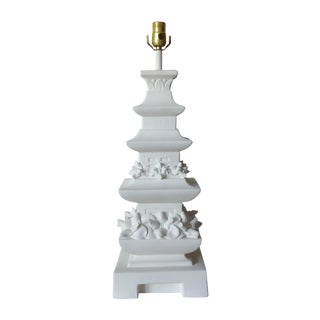 Plaster Pagoda Tiered Lamp