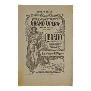 1947 Grand Opera Le Nozze Di Figaro