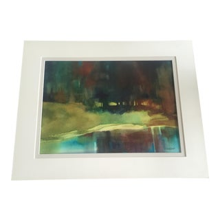 D. Lindstadt Serene Watercolor: Reflections, Green