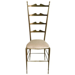Italian Brass Ladder Back Chiavari Chair