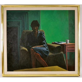 Large Portrait of Seated Woman, Incredible Frame