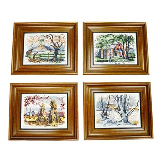 Mark Coomer Four Seasons Limited Edition Serigraph Prints- Set of 4