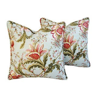 Custom Swavelle Mill Creek Floral Pillows - Pair